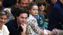 Harper Beckham was the ultimate fashionista at Victoria Beckham's London Fashion Week show