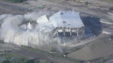 Spectacular Implosion as Palace of Auburn Hills Demolished