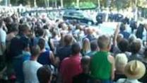 Hearses Carrying MH17 Victims Arrive in Hilversum