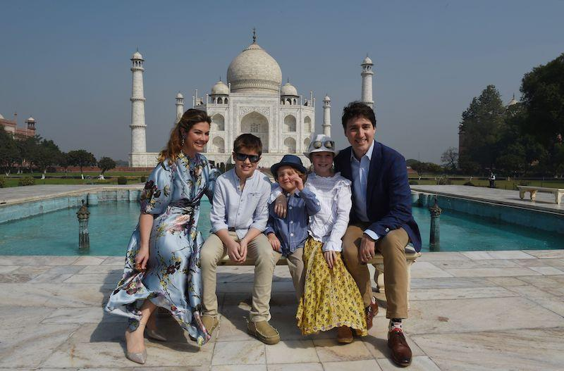 Justin Trudeau brings family along for trip to India