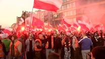 Far-right nationalists clash with police in France, Poland
