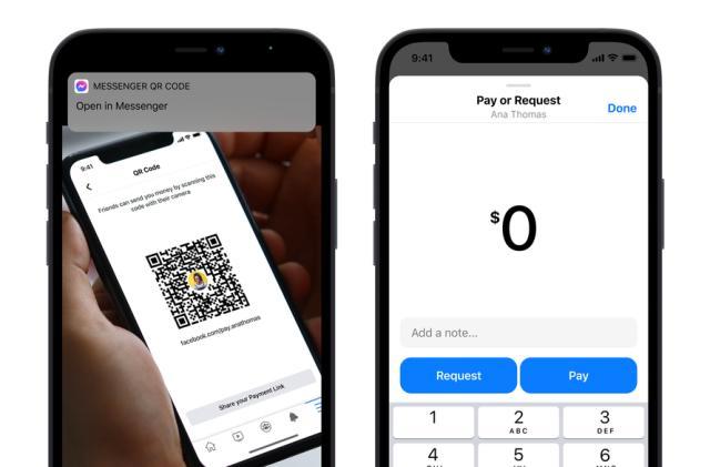 Facebook Messenger adds custom QR codes for Facebook Pay transactions