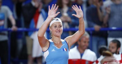 Tennis - Fed Cup - Kristina Mladenovic après le maintient de la France dans le groupe Mondial : «On est une équipe forte»