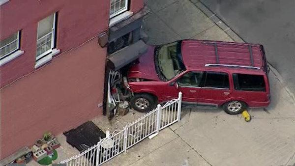 Car crashes into a building in Brooklyn