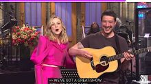 Mumford And Sons Frontman Tries To Steal 'SNL' Monologue From Wife Carey Mulligan