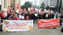 Former Thomas Cook employees stage protests over being 'abandoned' by the Government