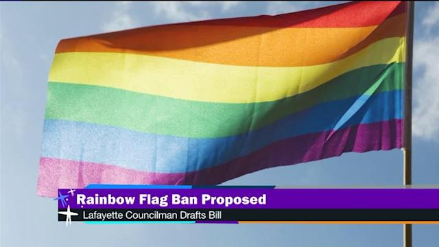 Rainbow flag ban proposed in Louisiana city