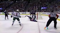 Charlie Coyle beats Varlamov's glove for goal