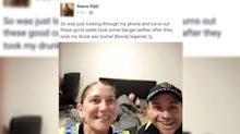 Drunk man finds selfie taken by the officers who brought him home