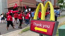 Julian Castro joins McDonald's minimum wage rally