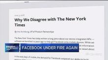 Facebook under fire again for data sharing