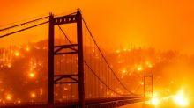 Eerie video shows smoke-shrouded Golden Gate Bridge during daytime drive