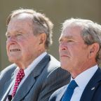 Both Presidents Bush Condemn Hatred a Day After Trump's Press Conference