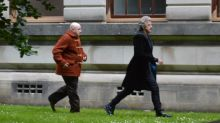 Doctor Who: Matt Lucas appears on set with Peter Capaldi