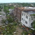 New drone video shows wide scope of Missouri tornado damage