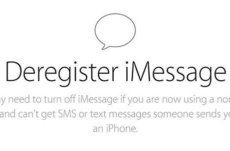 Apple site lets you deactivate iMessage and solve your missing text problem
