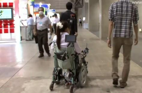 Japanese researchers develop robotic wheelchair that can follow humans