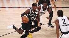 Nets start fast, beat Clippers to take No. 7 seed in East