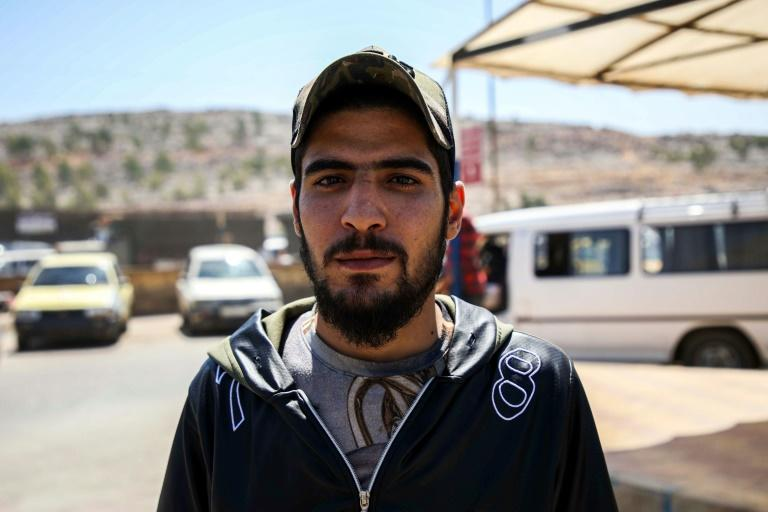 Syrian refugee Mohammad Hassan says he cannot return to his home city of Aleppo because it is under regime control (AFP Photo/Aaref WATAD)