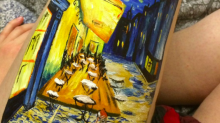 Teenager paints Van Gogh art on her leg to stop her from self-harming