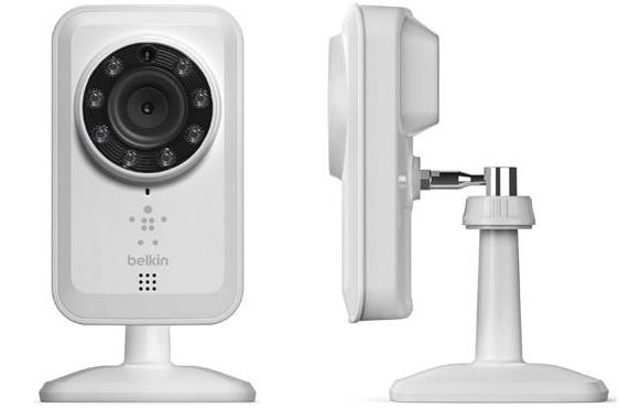 Belkin's NetCam WiFi Camera with Night Vision keeps an eye out for ghosts while you're out, hooks up with iOS / Android