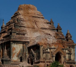 Myanmar soldiers, police seal off ancient temples damaged by quake