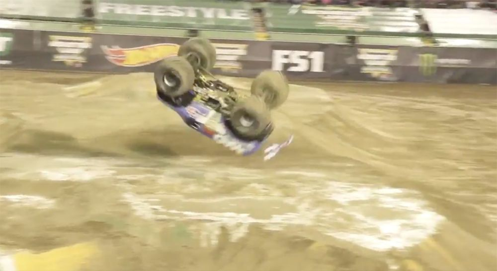 Monster truck monster jam flip highlights