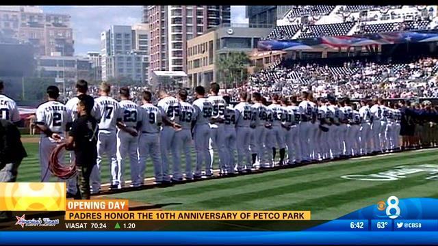 Padres honor 10th anniversary of Petco Park