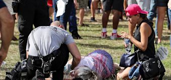 A dozen at Trump rally rushed to hospital amid extreme heat