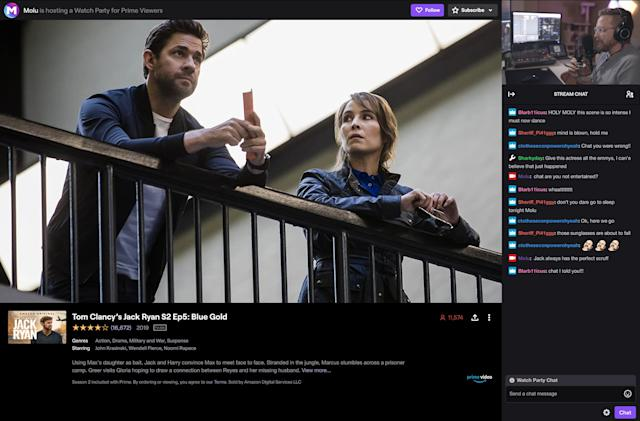 Twitch rolls out Prime Watch Parties to US streamers
