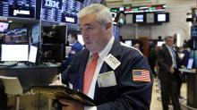 Banks, health care companies weigh on US stock indexes