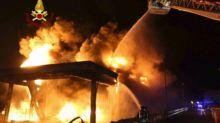 Vicenza, devastante incendio alla Geo&Tex 2000