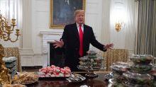 Trump treats Clemson Tigers to 'great American' fast food shutdown feast