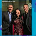 Barack Obama eats at Ayesha Curry's restaurant on Presidents Day