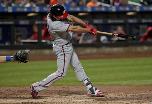 Anthony Rendon tried to take out the Marlins home run structure with a massive home run. (AP Photo)