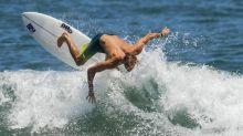 Typhoon forecast buoys Games surfers