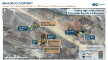 Erdene Provides Updates on Exploration at the Dark Horse Gold Prospect and Bayan Khundii Gold Project