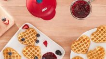This mini heart-shaped waffle maker is too cute —and under $20