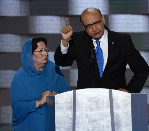Dad of slain Muslim soldier challenges Trump
