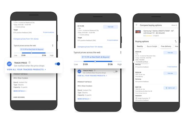 Google adds price tracking and comparison tools to Shopping
