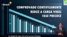 Governo usa gráfico genérico para dizer que vermífugo tem eficácia contra Covid