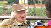 Oldest Female War Veteran Celebrates Flag Day