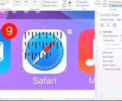 Re-create the iOS 7 home screen in Microsoft Word