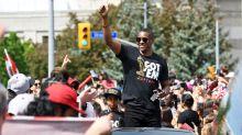 Masai Ujiri, Justin Trudeau share embrace at Raptors parade