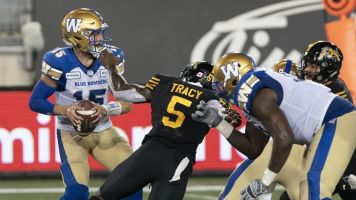 Veteran defensive lineman Tracy unsure when he'll play for Montreal Alouettes