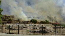 Ruinen von Mykene vor Zerstörung durch Waldbrand bewahrt