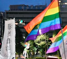 Gay couples in Japan join together on Valentine's Day to sue government over same-sex marriage ban