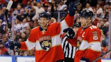 With Evgenii Dadonov gone, who skates on Panthers top line with Sasha Barkov and Jonathan Huberdeau?