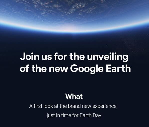 Google Earth wird am 18. April rundumerneuert