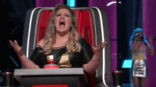 Kelly Clarkson sobs over 'Piece by Piece' audition on 'The Voice'